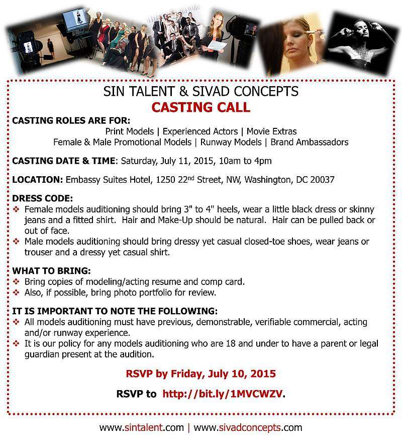 July 11th 2015 Casting Call